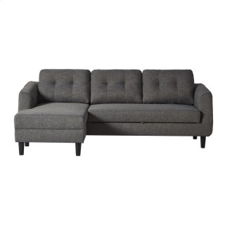 Belagio Sofa Bed With Chaise Charcoal Left