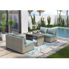 Silent Brook - Beige 5 Piece Patio Set Product Image