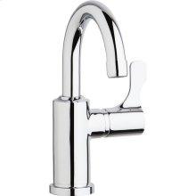 "Elkay Single Hole 8-5/8"" Deck Mount Faucet with Gooseneck Spout Lever Handle on Right Side Chrome"