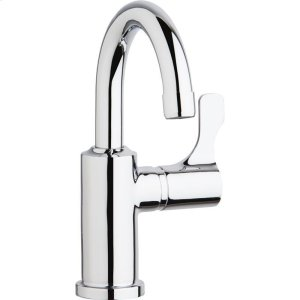 """Elkay Single Hole 8-5/8"""" Deck Mount Faucet with Gooseneck Spout Lever Handle on Right Side Chrome Product Image"""