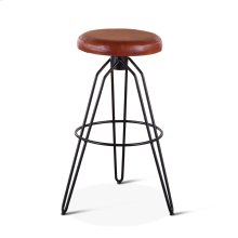 Winston Tan Leather Bar Stool