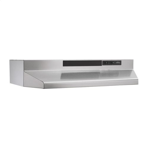 30-Inch Convertible Under Cabinet Range Hood with Light in Stainless Steel with EZ1 installation system