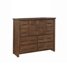Sutter Creek Vintage Bourbon Eight-drawer Dresser With Two Doors