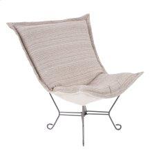 Scroll Puff Chair Alton Blush