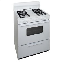 30 in. Freestanding Sealed Burner Gas Range in White