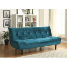 Teal Velvet Sofa Bed Product Image