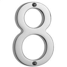 """Antique Brass Unlacquered Door numeral """"8"""""""