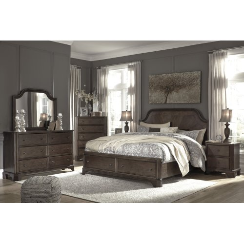 Adinton - Brown 3 Piece Bed Set (King)