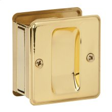 Door Hardware  Pocket Door Pull - Bright Brass
