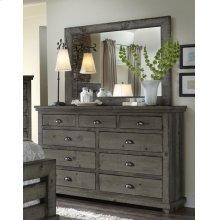 Drawer Dresser - Distressed Dark Gray Finish