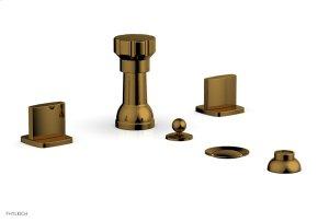 RADI Four Hole Bidet Set, Blade Handles 181-60 - French Brass Product Image