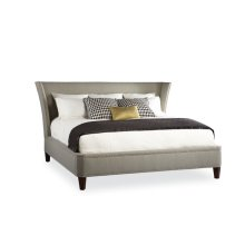 Upholstered Wing Bed
