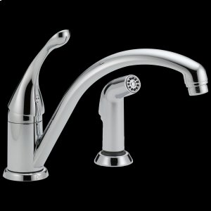 Chrome Single Handle Kitchen Faucet with Spray Product Image