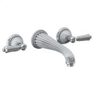 "Wall Mounted 3 Hole Lavatory Set With 8 1/4"" Ctc Spout Product Image"