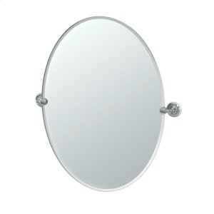 Designer II Oval Mirror in Brushed Brass Product Image