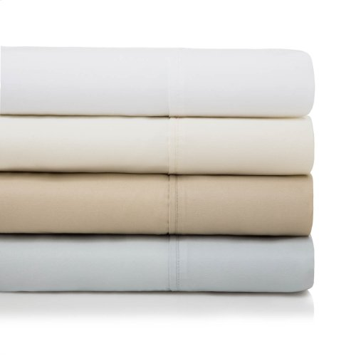 600 TC Cotton Blend Queen Pillowcase White