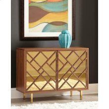 Contemporary Walnut Accent Cabinet
