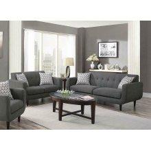 Stansall Mid-century Modern Grey Two-piece Living Room Set