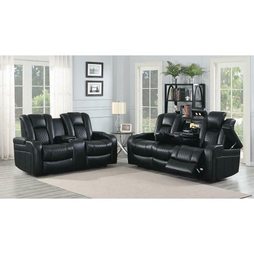 Delangelo Black Power Motion Two-piece Living Room Set
