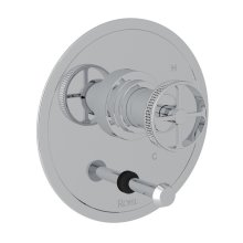 Polished Chrome Campo Pressure Balance Trim With Diverter with Industrial Metal Wheel