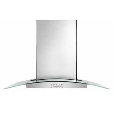 "36"" Modern Glass Wall Mount Range Hood - Stainless Steel"