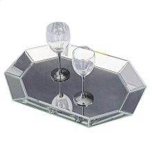 Octagonal Decorative Mirrored Tray