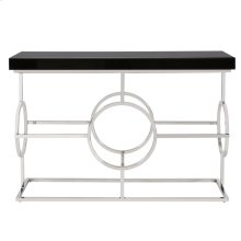 Stainless Steel Console Table With Black Top