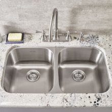 Portsmouth Double Bowl Kitchen Sink  American Standard - Stainless Steel