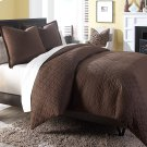 3 pc King Coverlet/Duvet Set Cocoa Product Image