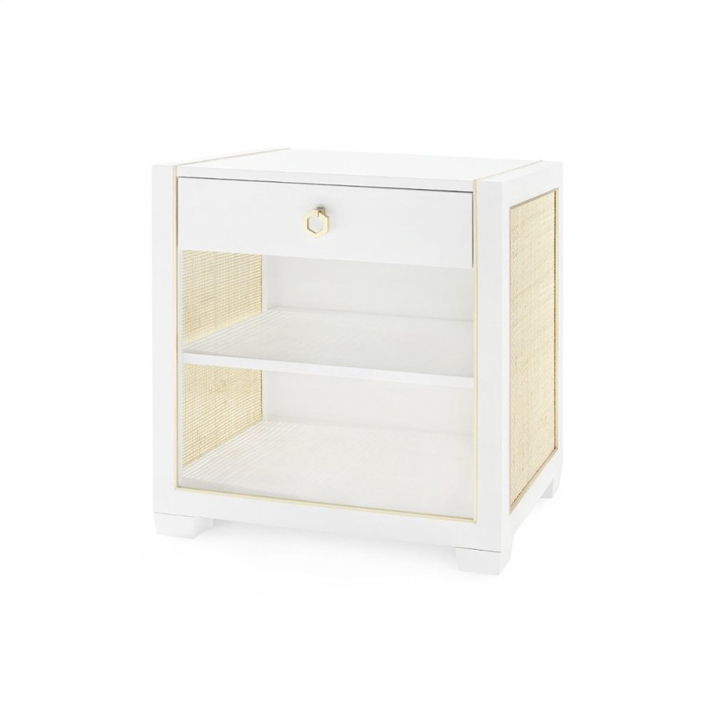 Karen 1-Drawer Side Table, White