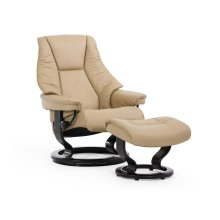 Stressless Live Small Classic Base Chair and Ottoman