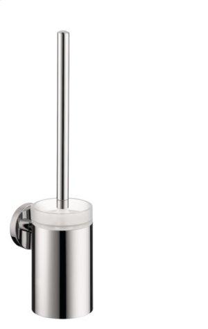 Chrome Toilet Brush with Holder Product Image