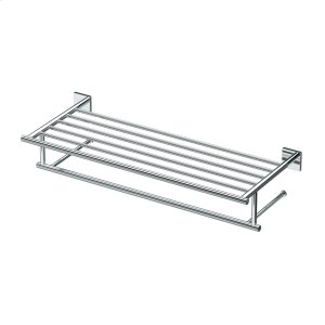 Elevate Minimalist Towel Rack in Chrome Product Image