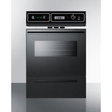 """Black Glass 220v Electric Wall Oven With Digital Clock/timer and Oven Window; for Cutouts 22 3/8"""" Wide By 34 1/8"""" High"""