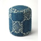 Simple and unpretentious, this stylish transitional pouffe is perfect for resting your feet or for extra seating in the living room, den or bedroom. With a cotton upholstered outer shell over mango wood solids and wood products, its print fabric features Product Image
