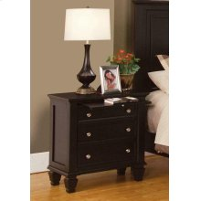 Sandy Beach Cappuccino Three-drawer Nightstand