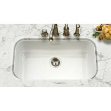 Porcela PCG-3600 WH Undermount Large Single Bowl PCG-3600 WH