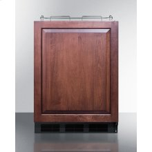 Built-in Undercounter ADA Height Commercially Listed Beer Dispenser With Panel-ready Door and Black Cabinet; No Tapping Equipment Included