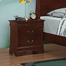 Louis Philippe Red Brown Two-drawer Nightstand Product Image