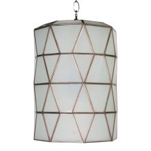 Small Frosted Glass Faceted Pendant. Uses Single 60w Bulb. 3' Matching Chain Included. Additional Chain May Be Purchased Upon Request.