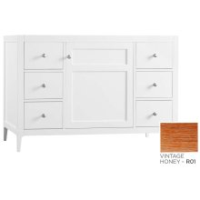 "Briella 48"" Bathroom Vanity Cabinet Base in Vintage Honey"