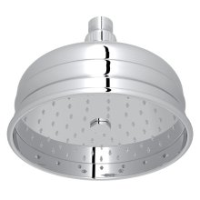 "Polished Chrome 6"" Bordano Rain Anti-Cal Showerhead"