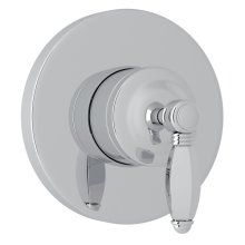 Polished Chrome Italian Bath 4-Port, 3-Way Diverter Trim with Hex Series Only Metal Lever