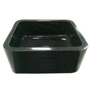"Acantha Single Bowl Granite Farmer Sink - Polished Blue Gray / 36"" Product Image"