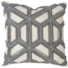 "Luxe Pillows Geometric Stitched Felt (21"" x 21"")"