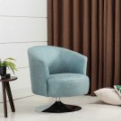 Twist Accent Chair in Teal Fabric Product Image