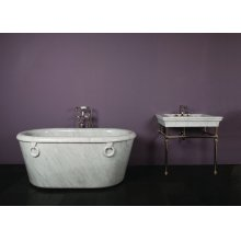 One of A Kind Bathtubs Ring / Carrara Marble