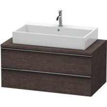 Happy D.2 Vanity Unit For Console, Brushed Dark Oak (real Wood Veneer)