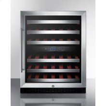 ADA Compliant Dual Zone Built-in Wine Cellar With Digital Thermostat, Stainless Steel Trimmed Shelves and Black Cabinet; Replaces Swc530lbistada