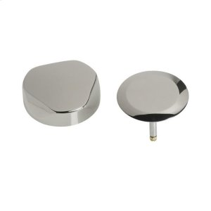 TurnControl Bath Waste and Overflow A dazzling turn Brass - ForeverShine PVD polished nickel Material - Finish Product Image